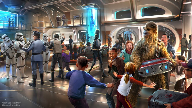 Star Wars- Galactic Starcruiser Hotel – The Atrium New Concept Art