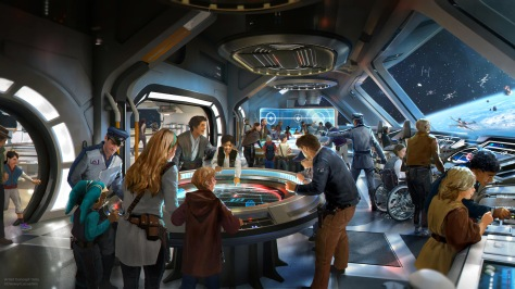 Star Wars - Galactic Starcruiser Hotel – The Bridge New Concept Art