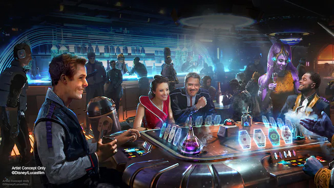 Star Wars- Galactic Starcruiser Hotel – The Silver C Lounge New Concept Art