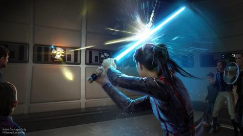 Star Wars- Galactic Starcruiser Hotel – Wield a Lightsabre New Concept Art