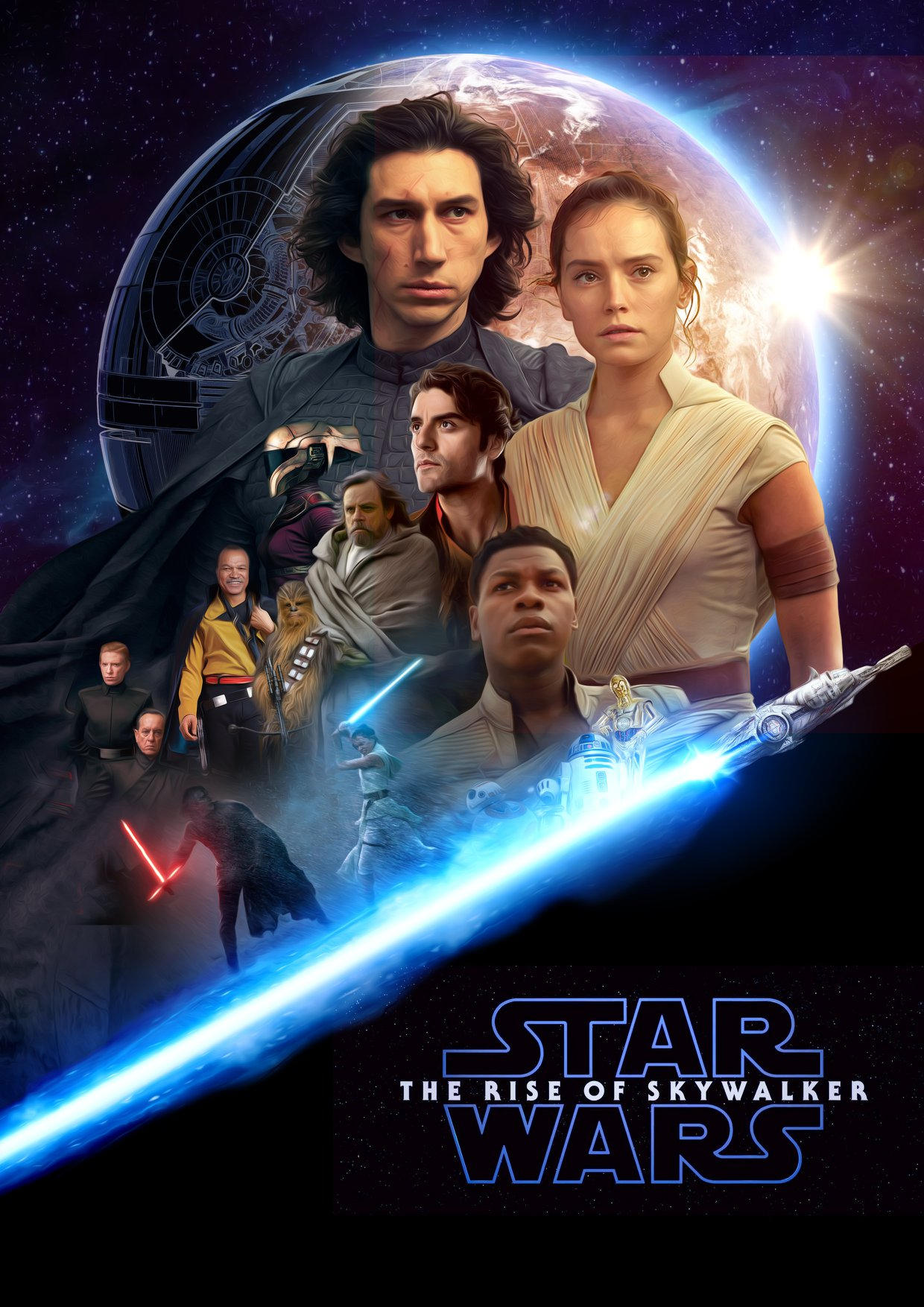 Star Wars The Rise Of Skywalker Fanart Poster By Augen2 Geek Carl