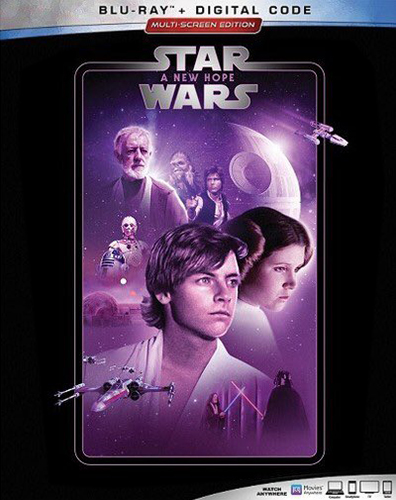 The Complete Star Wars Saga - Blu-Ray Re-Release 22nd September 2019 - A New Hope Cover Art