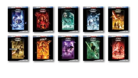 The Complete Star Wars Saga - Blu-Ray Re-Release 22nd September 2019 Cover Art