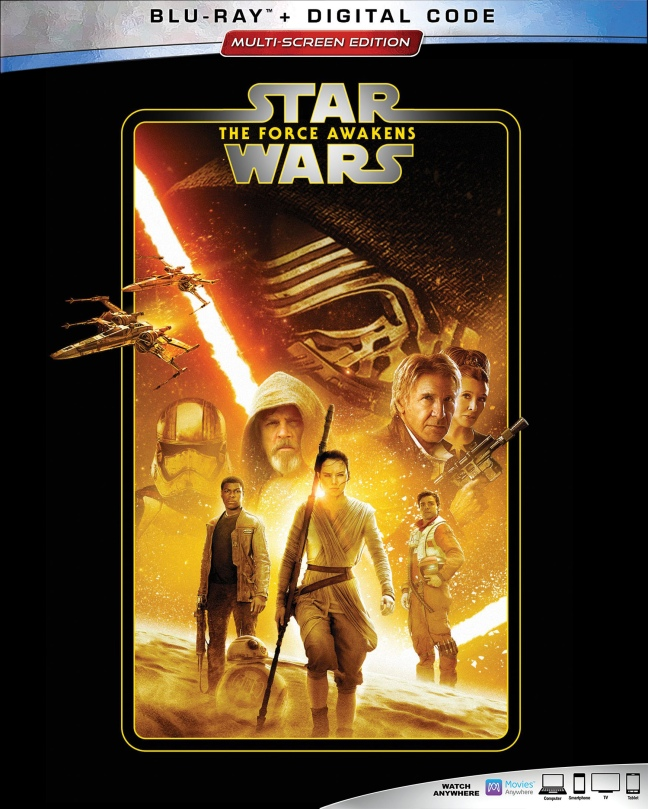 The Complete Star Wars Saga - Blu-Ray Re-Release 22nd September 2019 - The Force Awakens Cover Art - Super Hi-Resolution
