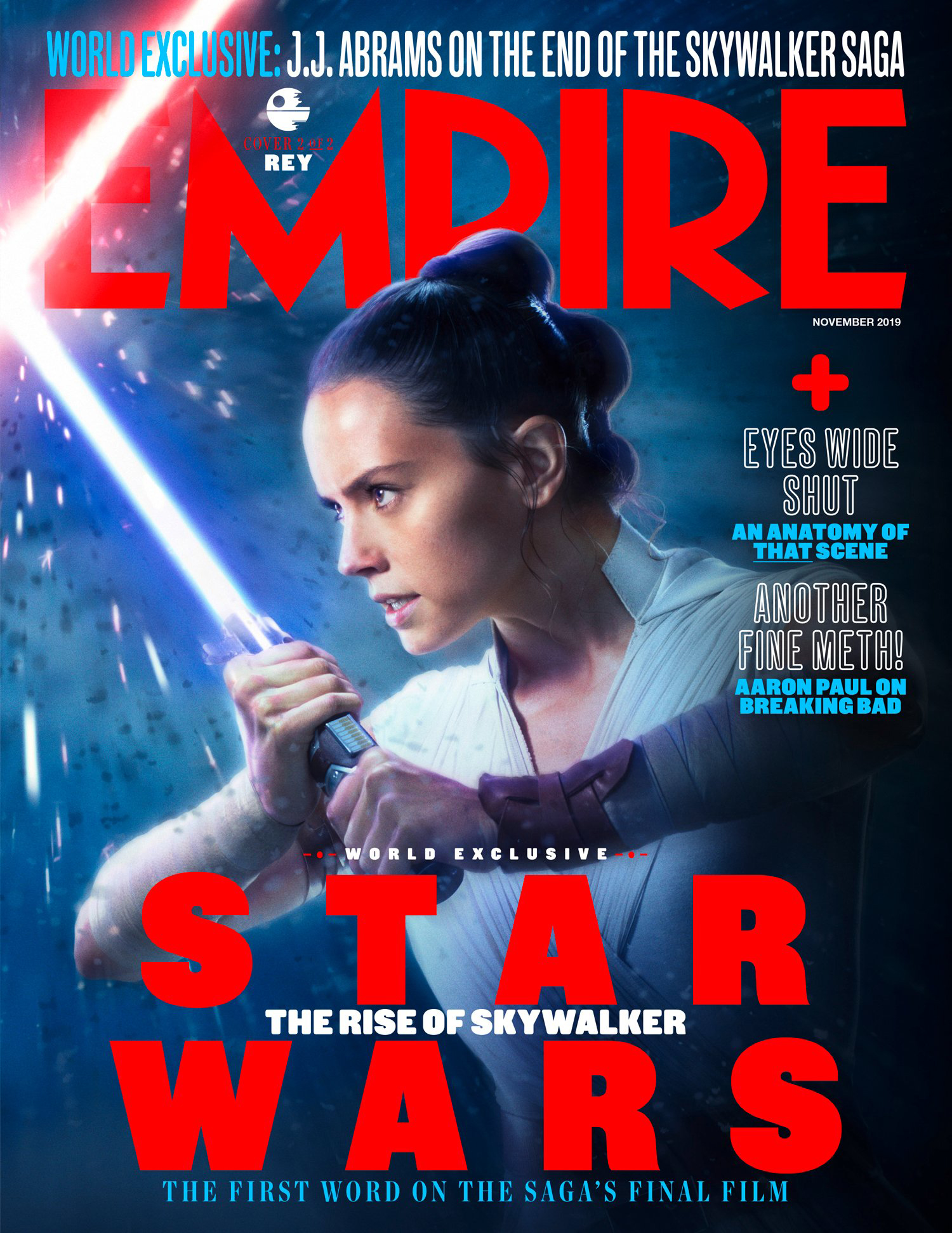 Star Wars The Rise Of Skywalker Empire Magazine Rey Cover Geek Carl