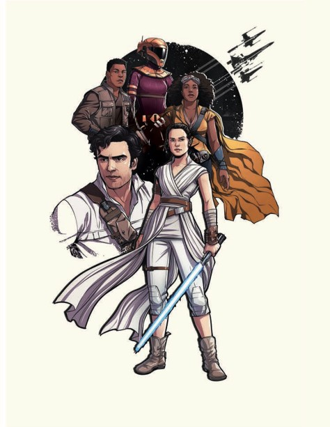 Star Wars - The Rise of Skywalker - Official Style Guide Promotional Poster Artwork