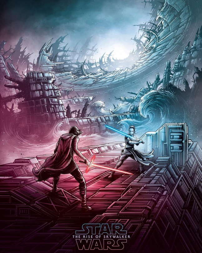 IMAX Exclusive - Star Wars - The Rise of Skywalker Dan Mumford Poster No 1