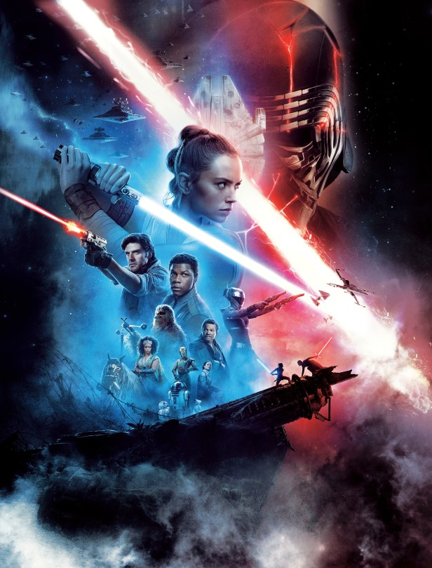 Star Wars Episode 9 - The Rise Of Skywalker Theatre Movie Poster Textless and Expanded Original Web