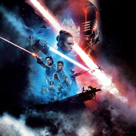 Star Wars Episode 9 - The Rise Of Skywalker Theatre Movie Poster Textless and Expanded Web