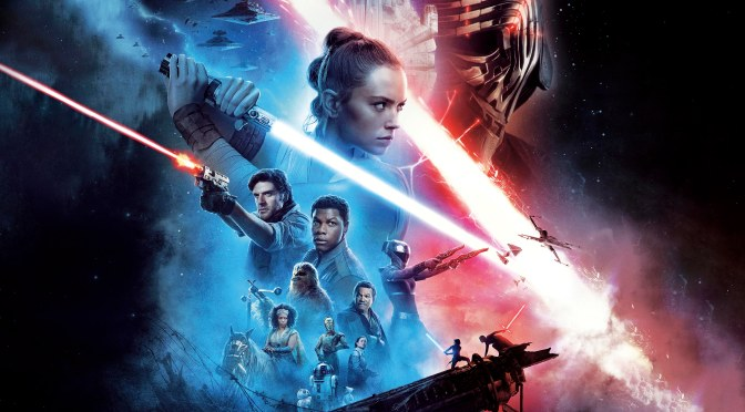 Star Wars: The Rise Of Skywalker Theatre Movie Poster Textless and Expanded