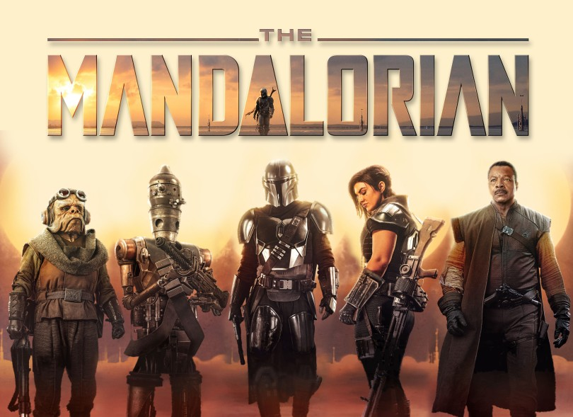 Star Wars - The Mandalorian - Character Textless Poster Web