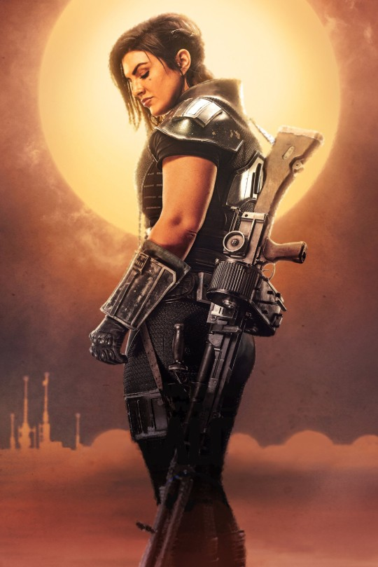 Star Wars The Mandalorian – Textless Character Posters – Gina Carano as Cara Dune