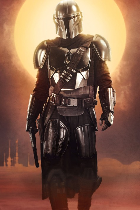 Star Wars The Mandalorian – Textless Character Posters – Pedro Pascal as the Mandalorian
