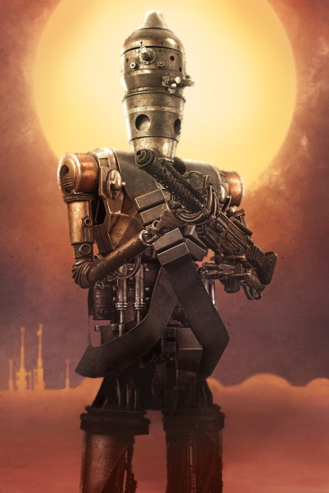 Star Wars The Mandalorian – Textless Character Posters – Taika Waititi as IG-11