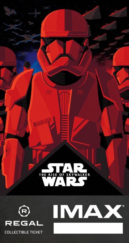 Star Wars The Rise of Skywalker Imax Regal Cinemas Ticket Poster