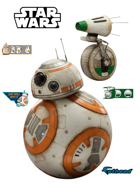 Star Wars The Rise of Skywalker Official BB-8 and D-O Cut Out by Fathead