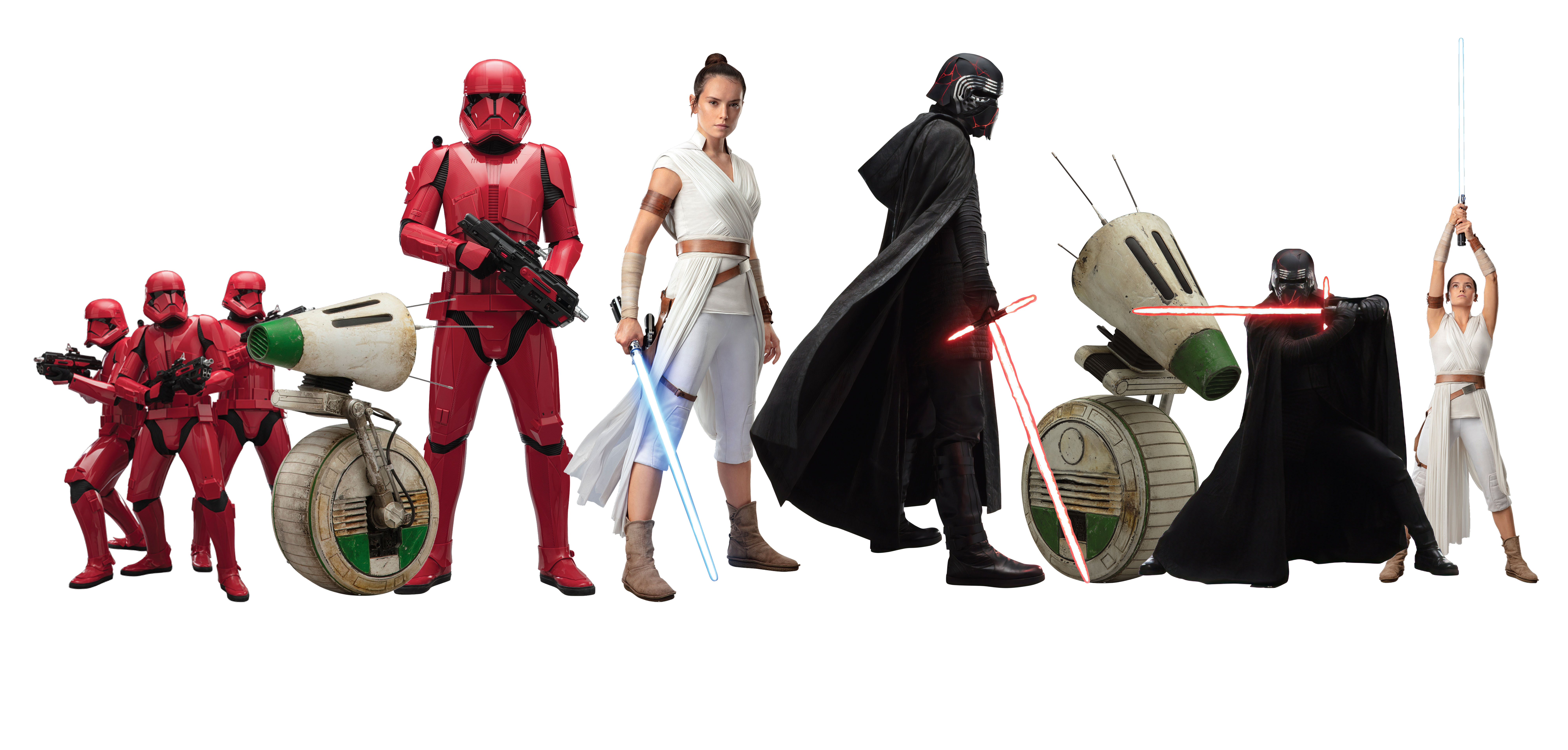 Star Wars The Rise Of Skywalker Official Character Cut Outs By Fathead Geek Carl
