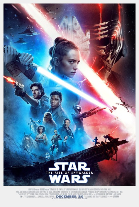 Star Wars The Rise of Skywalker OFFICIAL Final Movie Theatre Poster