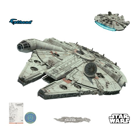 Star Wars The Rise of Skywalker Official Millennium Falcon Cut Out by Fathead