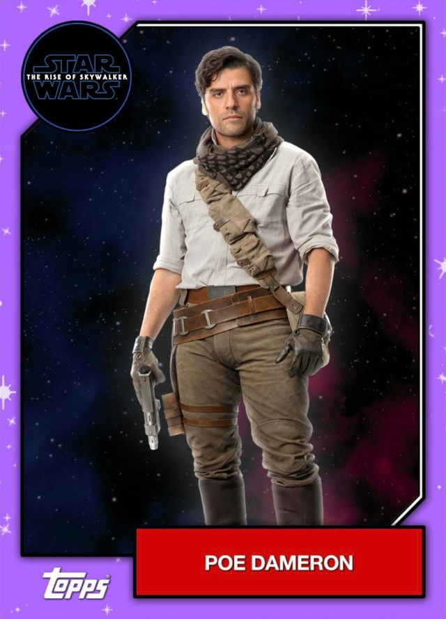 Star Wars The Rise Of Skywalker Official Topps Trading Cards Poe Dameron Geek Carl