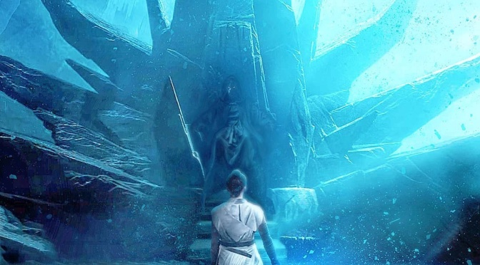Star Wars - The Rise of Skywalker - The Emperor's Throne Room with Rey FanArt by Lew James