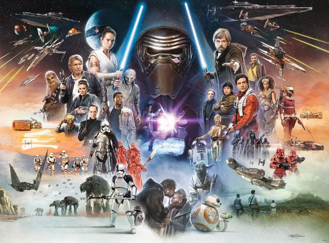 Star Wars The Complete Saga of Poster High Quality Official Art