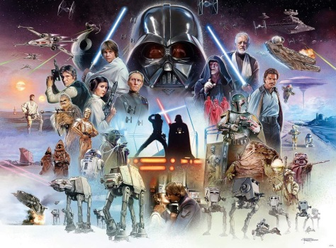 The Original Trilogy - The Star Wars Saga Art by Brian Rood