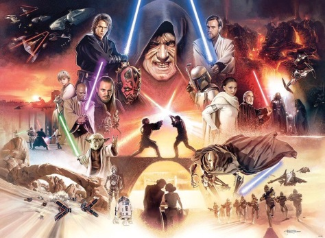 The Prequel Trilogy - The Star Wars Saga Art by Brian Rood