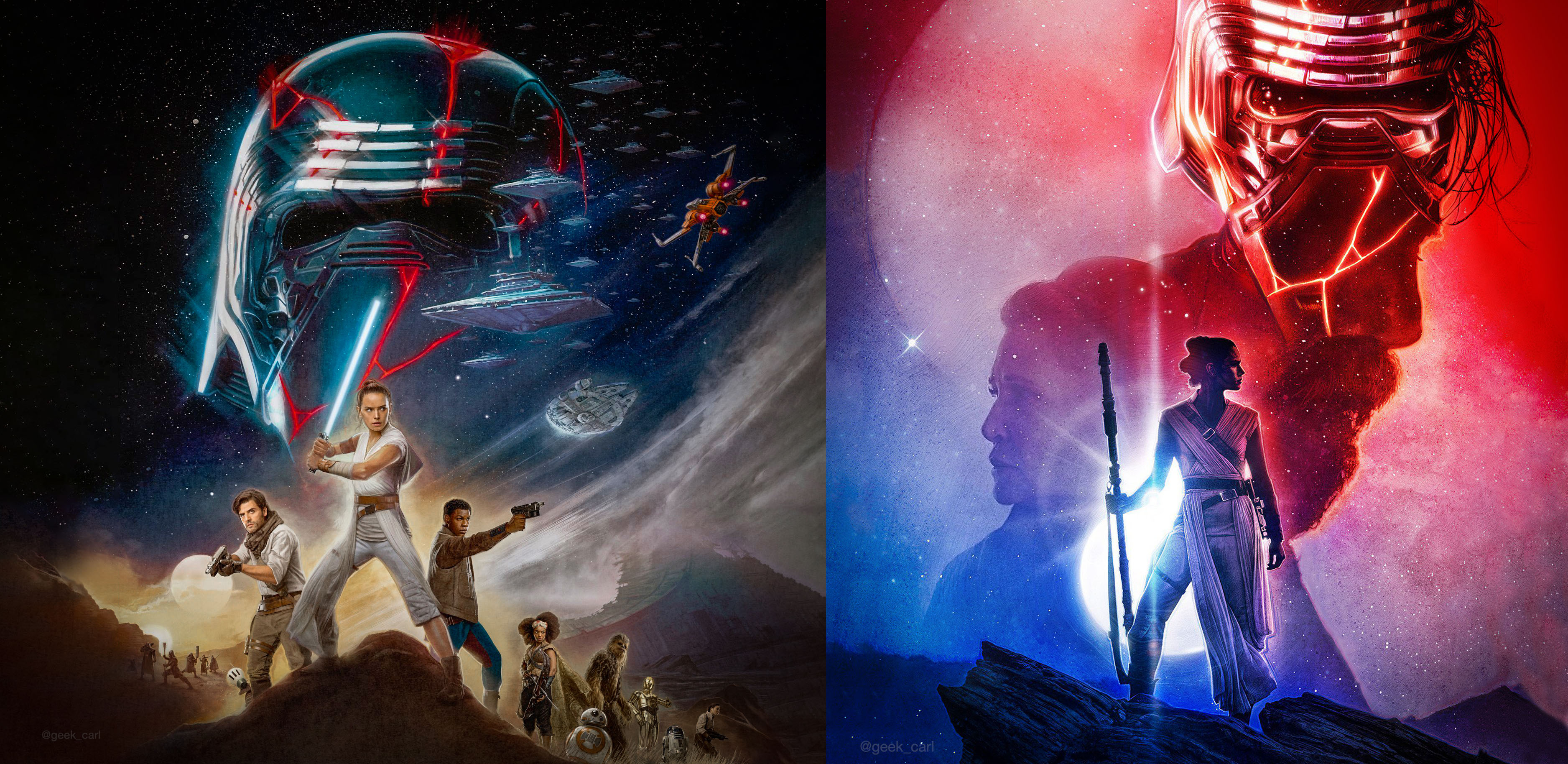 New Star Wars The Rise Of Skywalker Imax And Real3d Posters Geek Carl