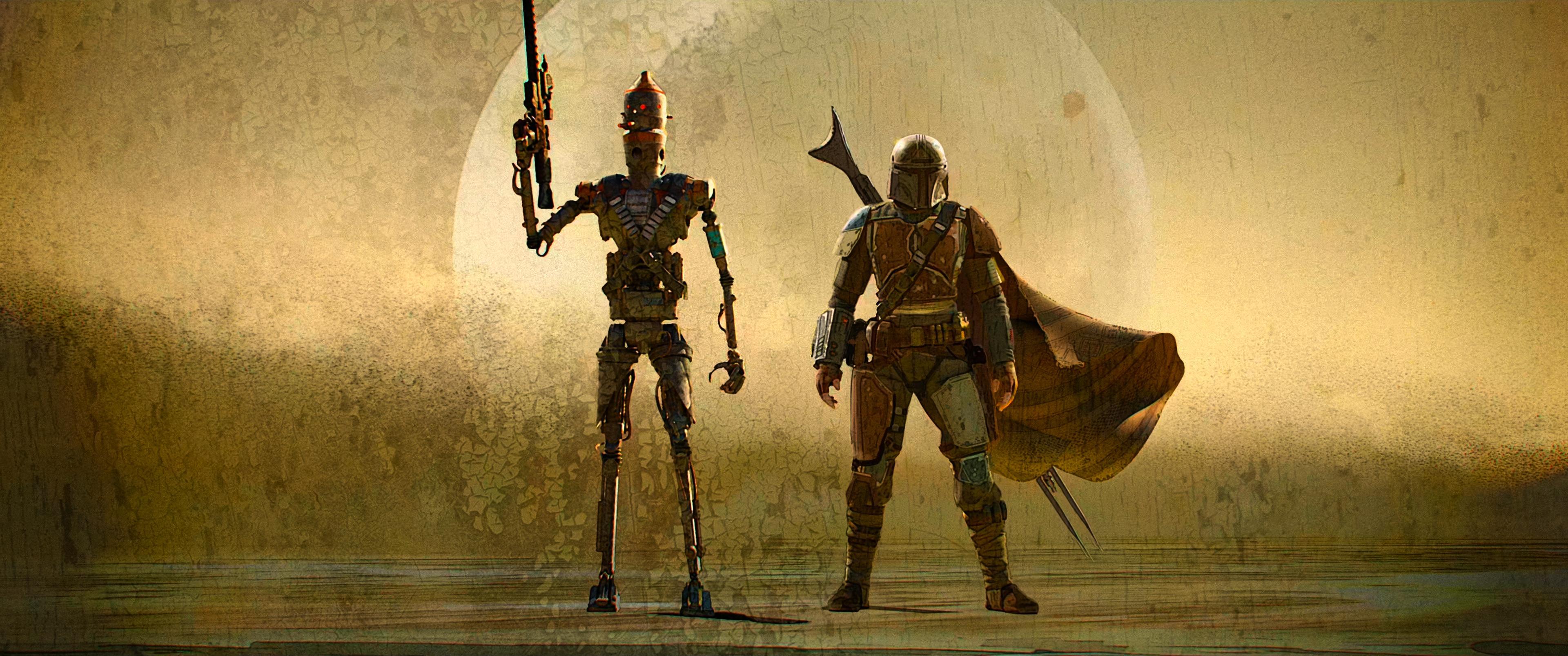 The Art Of Star Wars The Mandalorian End Credits Art 3 Geek Carl