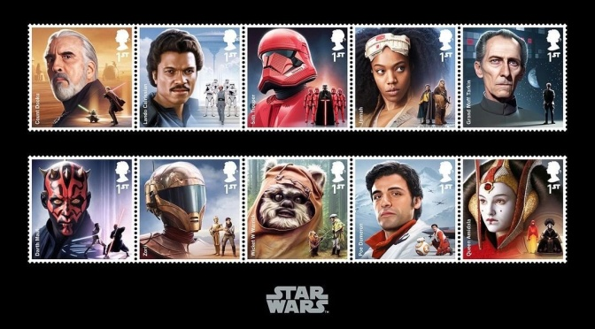 Star Wars Saga : Complete Royal Mail Stamps
