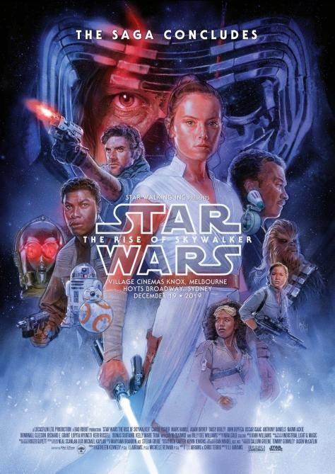 Star Wars The Rise Of Skywalker Australian Exclusive Poster By Hugh Fleming Geek Carl