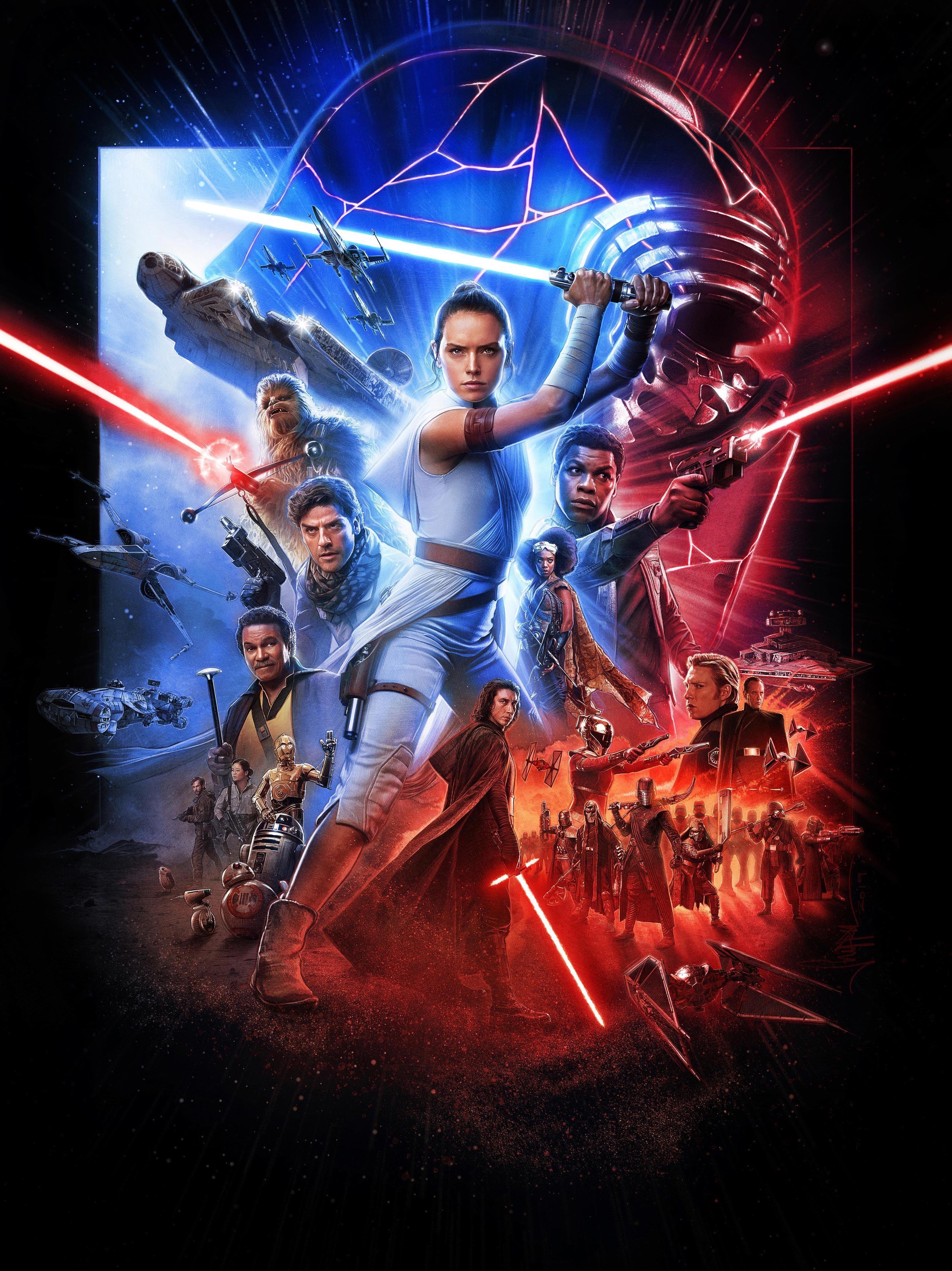 Star Wars The Rise Of Skywalker Paul Shipper International Poster Uhr Geek Carl